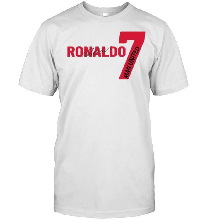 Cristiano Ronaldo Manchester United Jersey 2021 Unisexl T- Classic Men's T-shirt