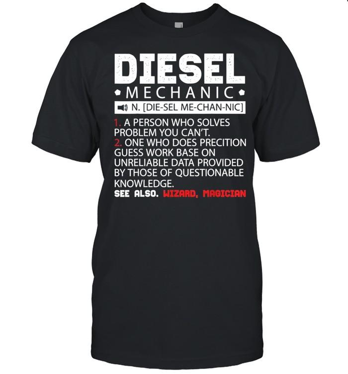 Diesel Mechanic Description shirt Classic Men's T-shirt