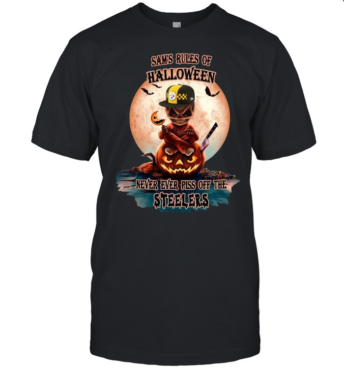 Skull sam's rules of Halloween never ever piss of the Pittsburgh Steelers shirt Classic Men's T-shirt