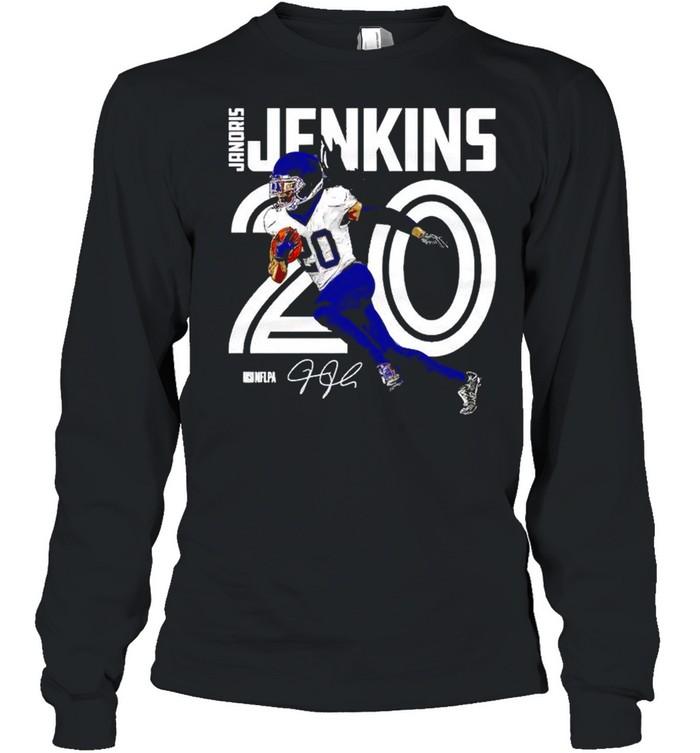 Tennessee Titans Janoris Jenkins inline signature shirt Long Sleeved T-shirt