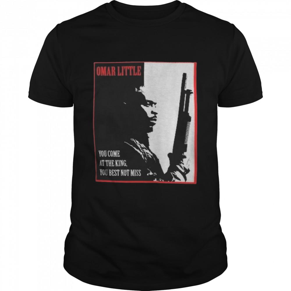 Michael K. Williams Omar Little Dont Miss the King T Shirt
