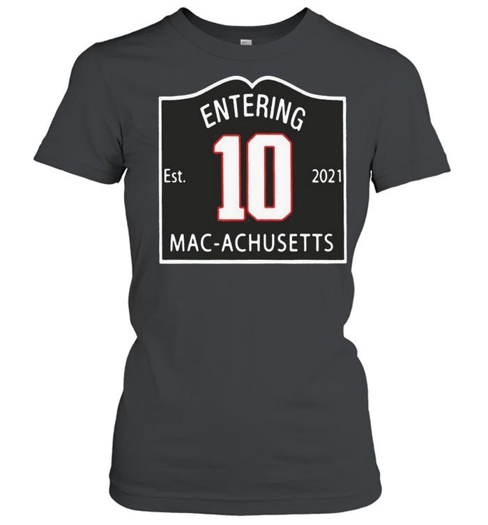 entering macachusetts shirt Classic Women's T-shirt