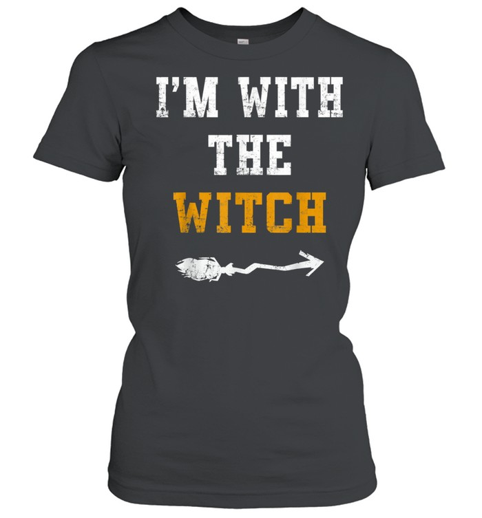 Halloween Male I'm with the Witch Costume Couples shirt Classic Women's T-shirt