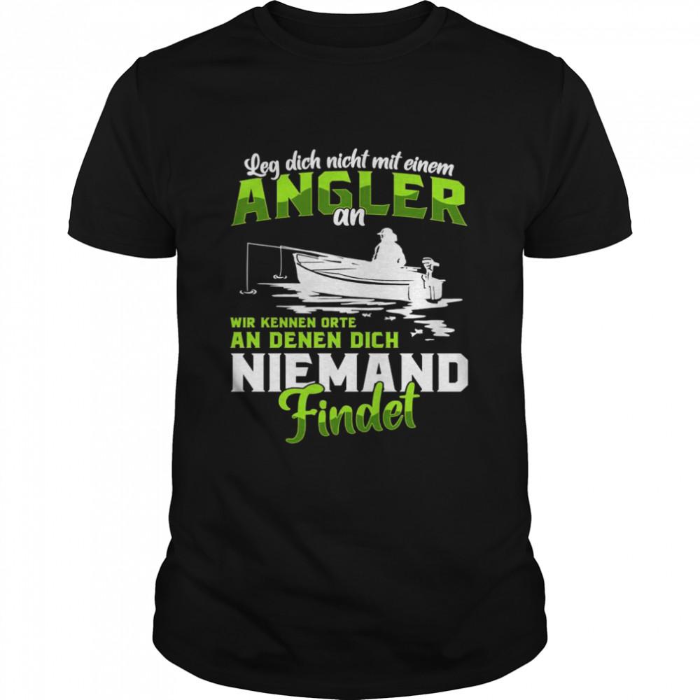 Angler Fischer Angelrute See Fluss Spruch Geschenk Langarmshirt shirt