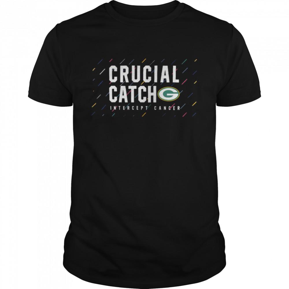 Green Bay Packers 2021 crucial catch intercept cancer shirt