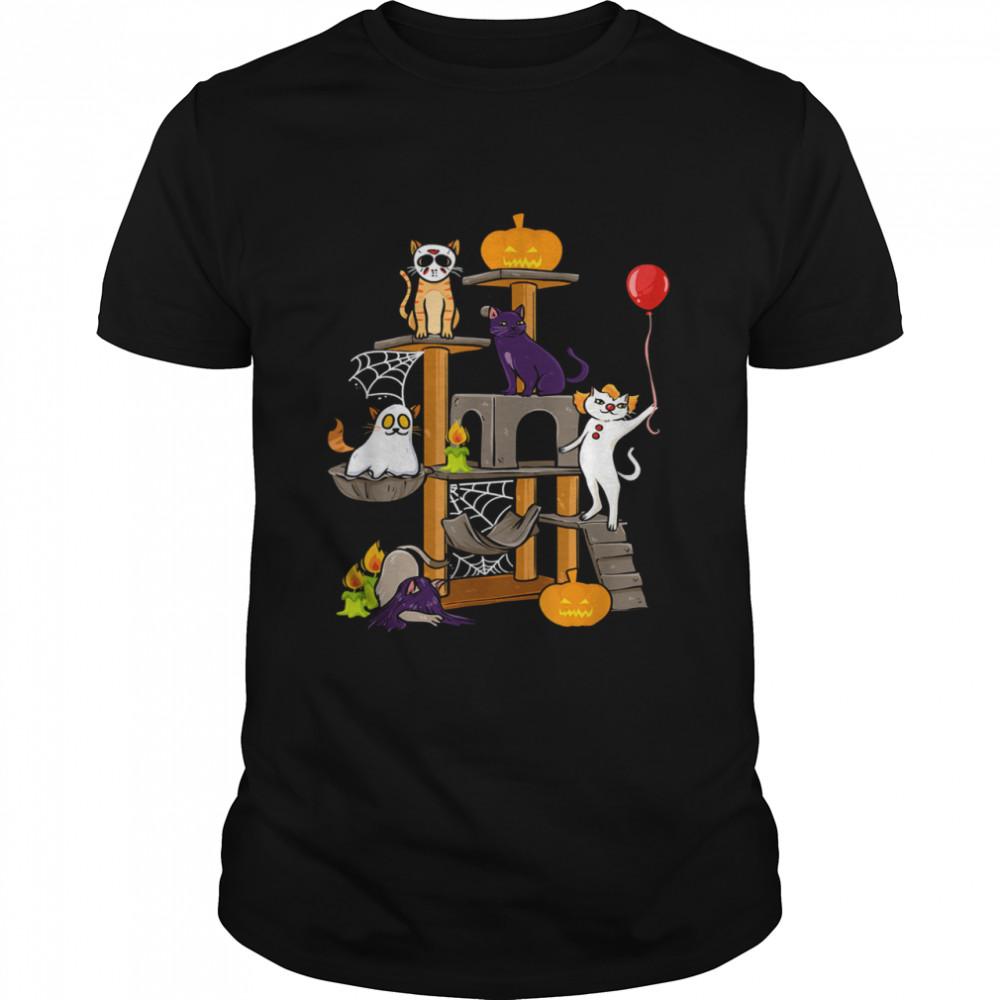 Cat Horror Movies Halloween for Cat Kitty shirt