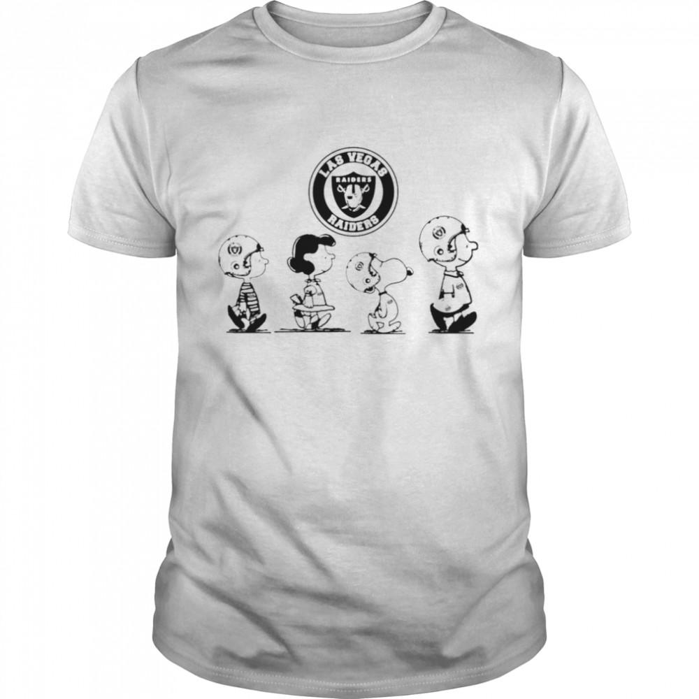 Peanuts Characters Las Vegas Raiders Football team t-shirt