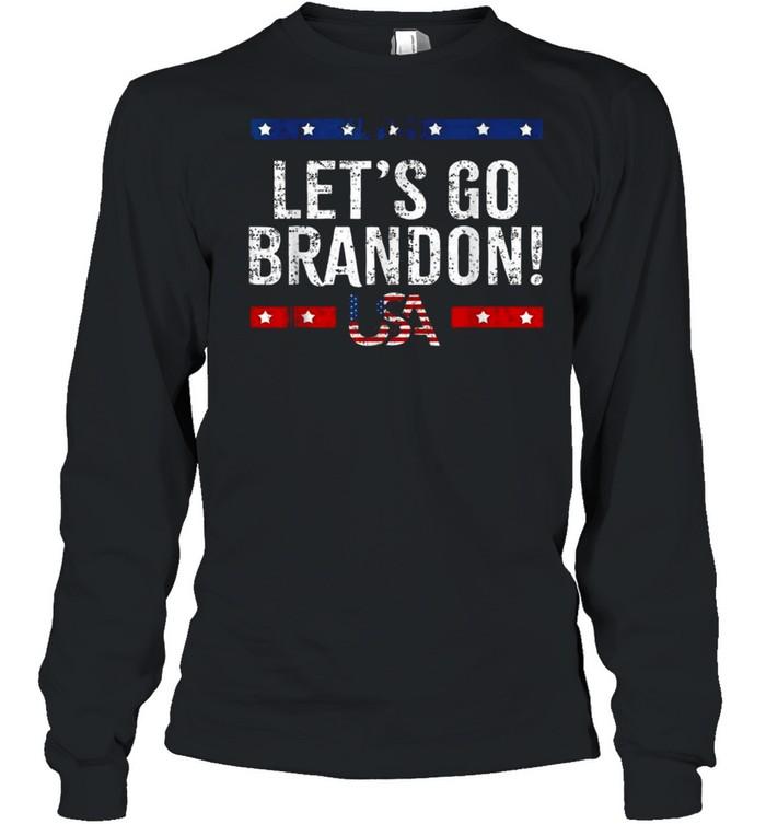 Let's Go Brandon American Flag Impeach Biden 2021 T- Long Sleeved T-shirt