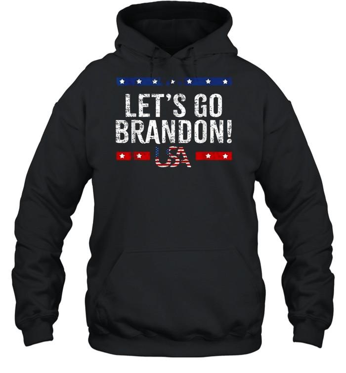 Let's Go Brandon American Flag Impeach Biden 2021 T- Unisex Hoodie